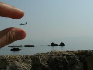 Pe plajă, în insula Corfu