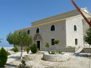 Biserica mănăstirii de pe cel mai înalt vârf din Corfu, Pantokrator