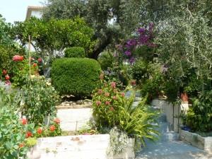 În faţa casei în care am stat în Corfu