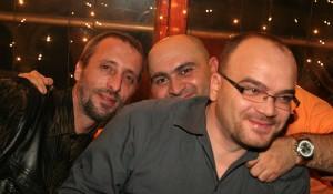 Liviu Avram (în stânga), alături de George Lăcătuş şi de Remus Radu