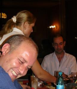 Marius Cosmeanu, la ziua lui Pavel Lucescu. Şi o domnişoară