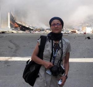 Carmen Gavrilă în Liban, după bombardamente