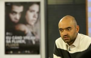 Florin Serban cu afis, foto EvZ