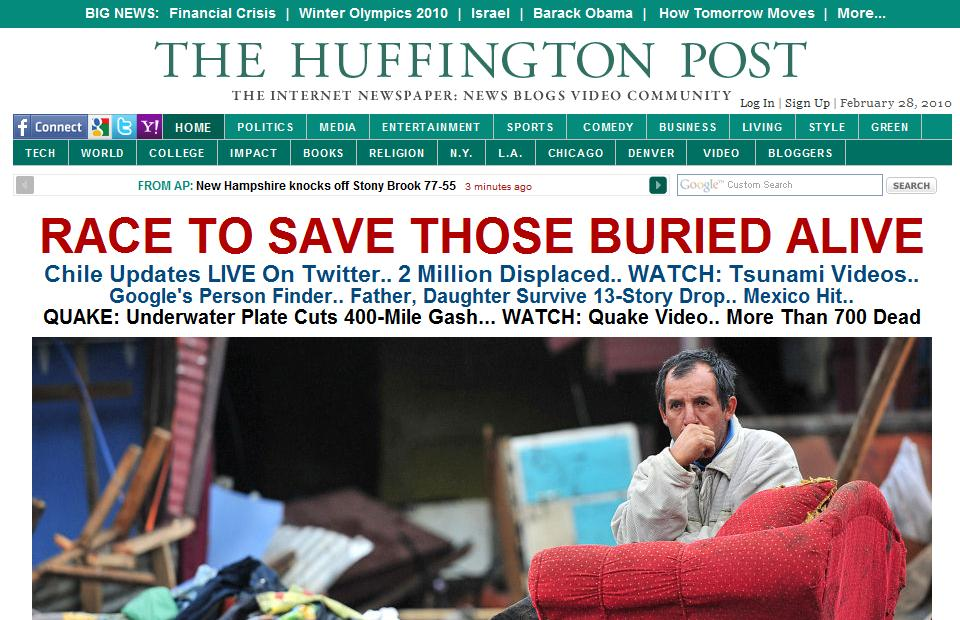 huffington print screen