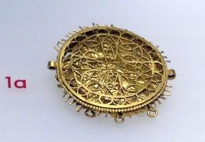 Pectoral (piesă a armurii romane) descoperit la Someşeni, judeţul Cluj (secolul V d.Hr.)